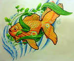 Goldfish Tattoo Design