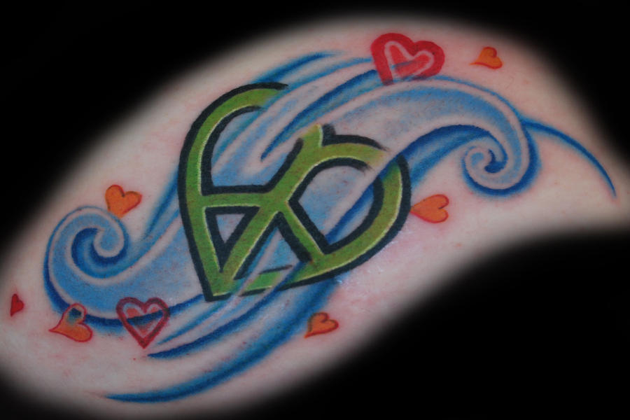 heart-shaped peace sign tattoo by ~joshing88 on deviantART