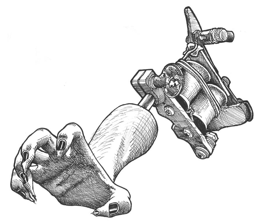 tattooing hand by joshing88 on deviantart