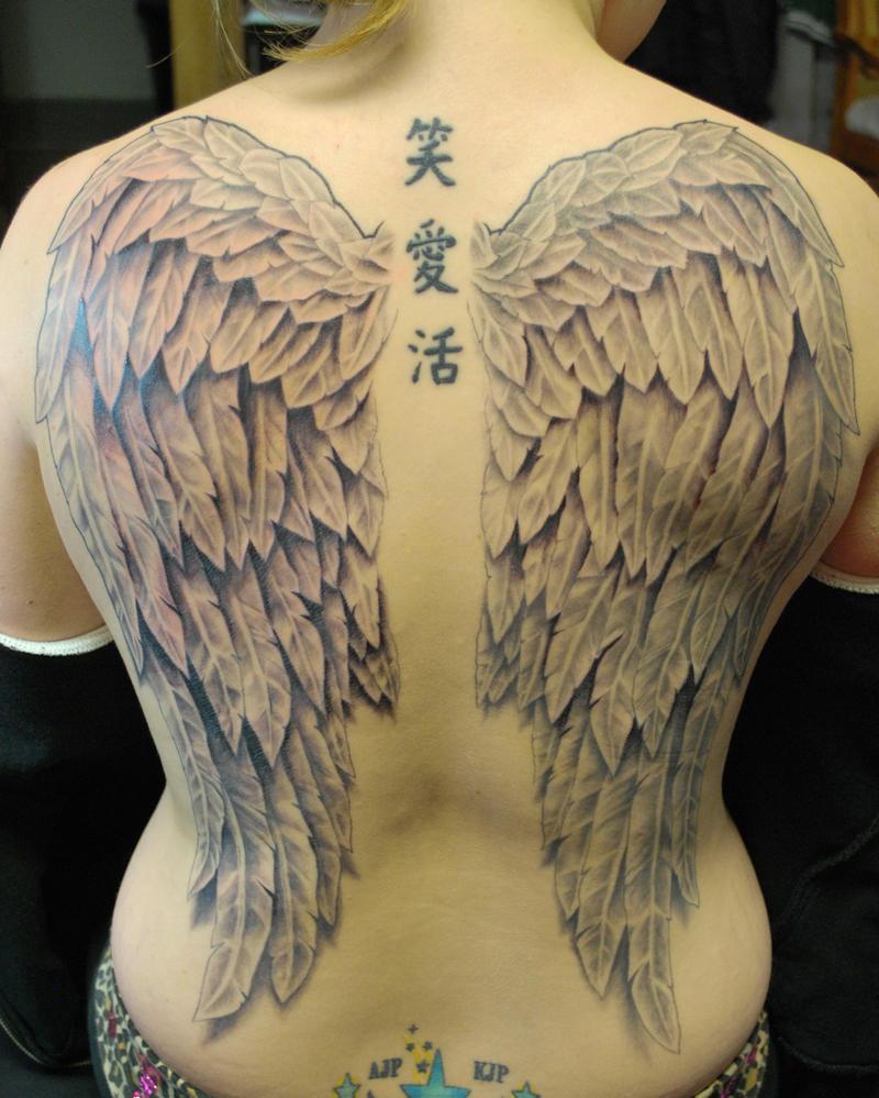 Full Back Wings Tattoo by joshing88 on DeviantArt