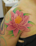 Freehand Lily tattoo walk-in