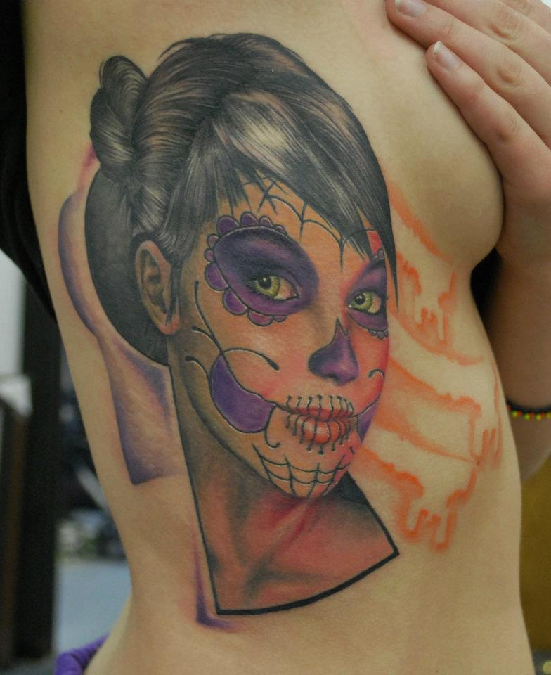 Day of The Dead Girl Tattoo by joshing88