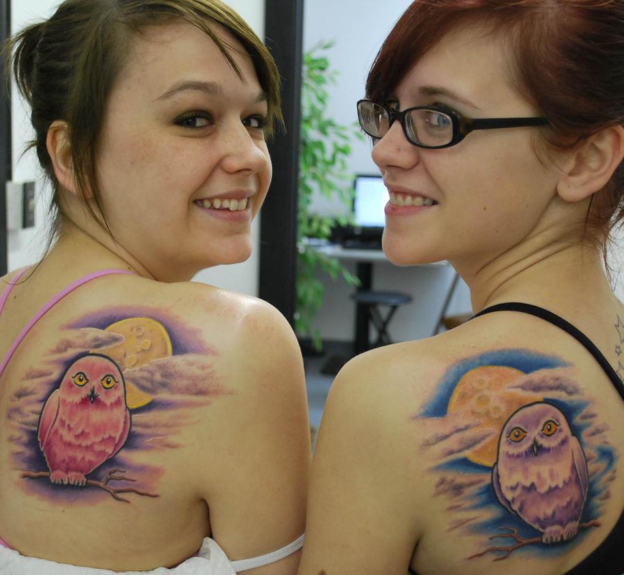 Matching Owls tattoos