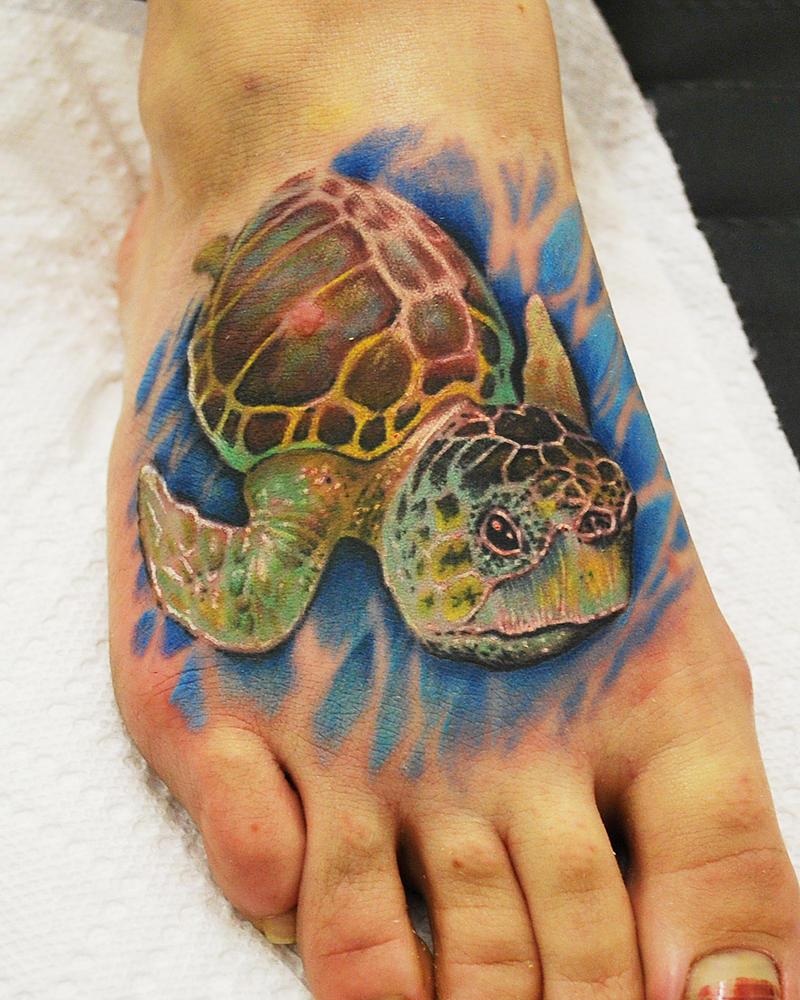 Melanie Loggerhead Sea Turtle Tattoo by joshing88