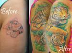Tigers Half Sleeve
