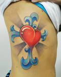 heart cross tattoo
