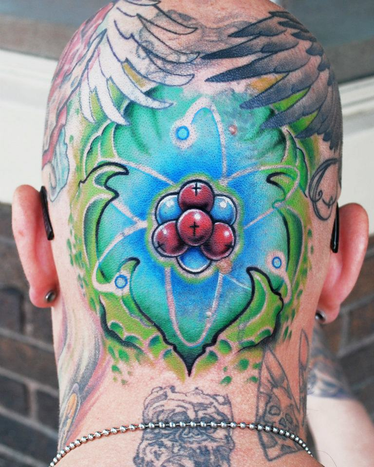 Nuclear Biomech Head Tattoo by joshing88