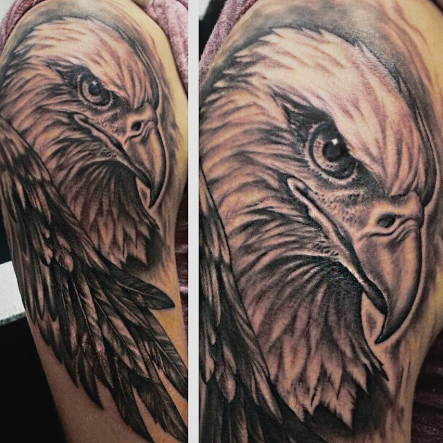 Eagle halfsleeve tattoo by joshing88 on deviantart for Eagle tattoo arm
