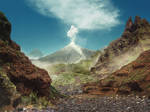[Premade Background] Volcano