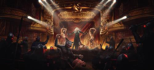 William Blackswan - Survival Denied (CD cover) by Rowye