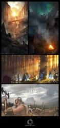 Sagas of Midgard (Roleplay Game Book) by Rowye
