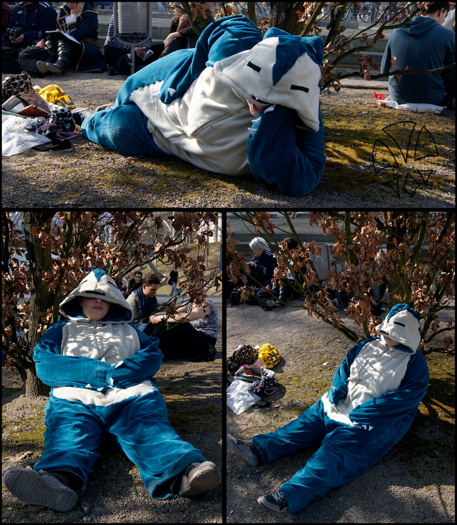 Snorlax Cosplay by kleinespika
