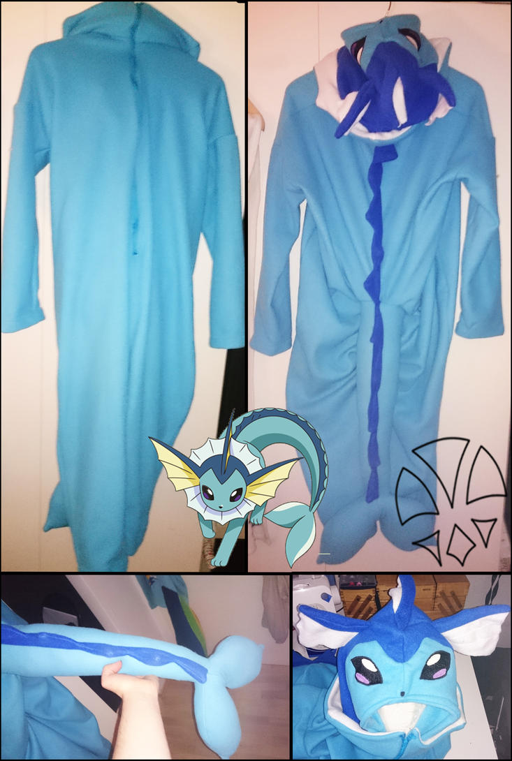 Commission: Vaporeon Cosplay / Kirugumi by kleinespika