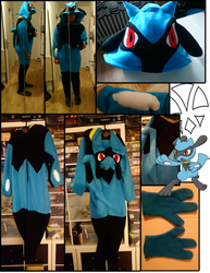 Commission: Riolu Cosplay / Kirugumi by kleinespika