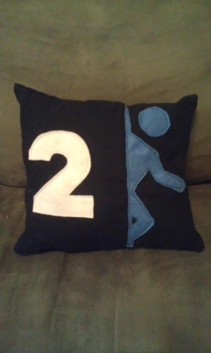 Portal 2 Pillow by Izit-Sama