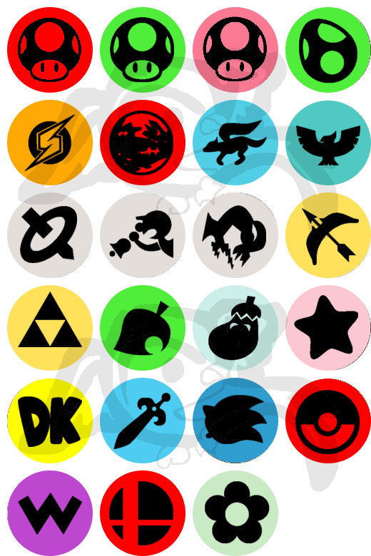 Super Smash Brothers Melee / Brawl Buttons by Izit-Sama