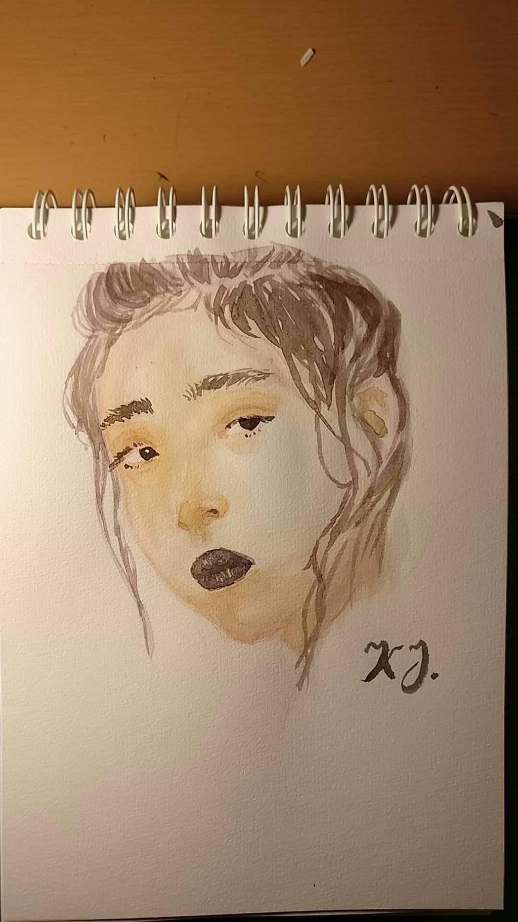 Model study (watercolor)