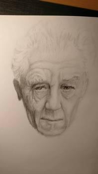 Old man study.