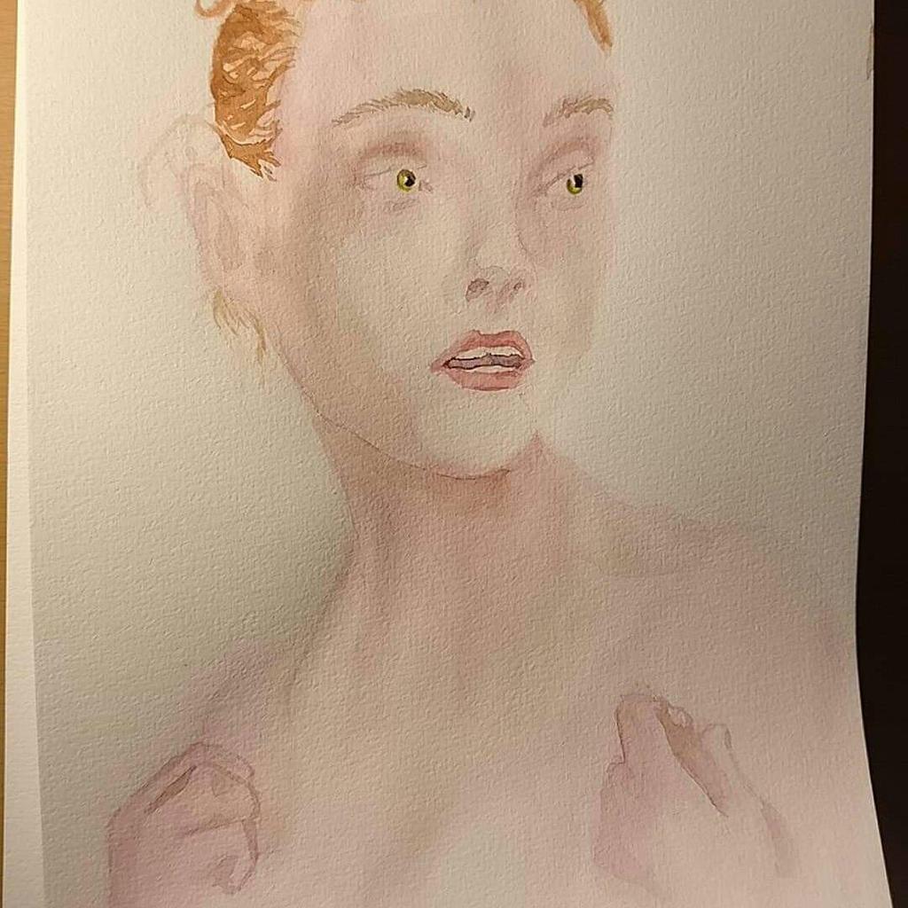 Female watercolor portrait