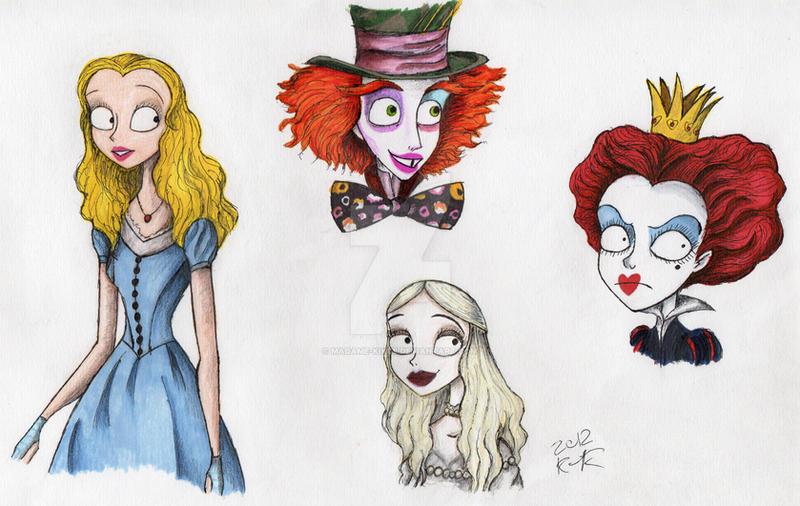 Burton's Alice in Wonderland by Madame-Kikue on DeviantArt