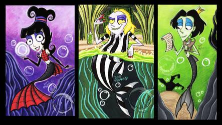 Neitherworld's Merfolks Triptych by Madame-Kikue