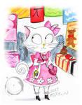 Burtonized Hello Kitty in ComicCon