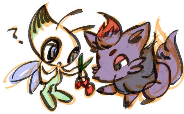 Celebi and zorua