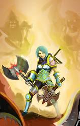 league ofe legend digi art contest battle of axes