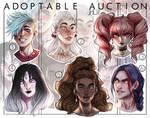[2/6 OPEN] Headshot adoptable auction | JHU by JHUffizi