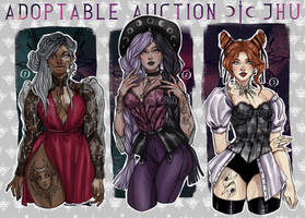 [CLOSED] Adoptable auction,the Moon witches   JHU