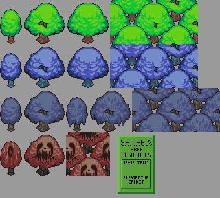 Free Tree tiles by SamaelReaper