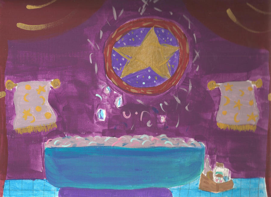 Purple Room Paintings And Decorations