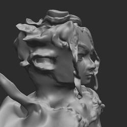 Abandaned attempt at sculpting Gegonago by Tujion
