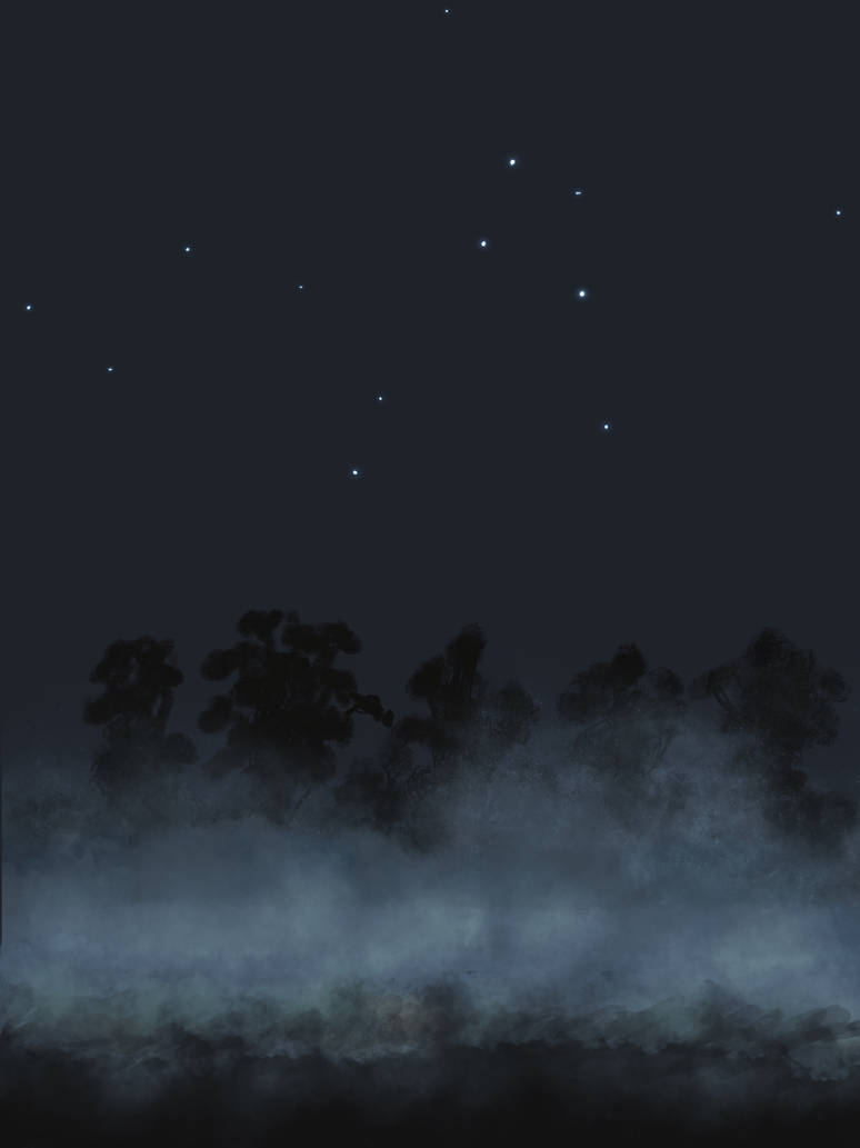 Impression of Night Drive in Mist by Tujion