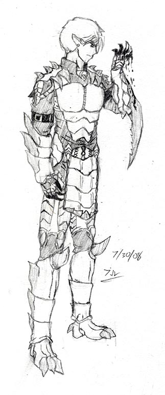 Zahel Battle Form Sketch by kurimuzon