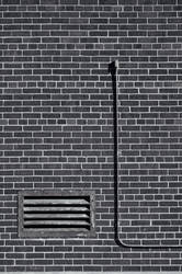 Wall, with vent and pipe by aCreature