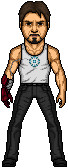 Tony Stark with iron hand by green-antern47
