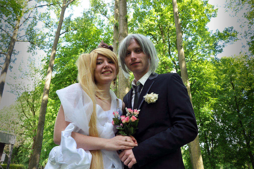 neru akita and honne dell wedding by thehiddenbaka on