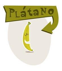 Retro banana platano Canarias