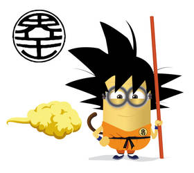 Minion cosplay Son Goku