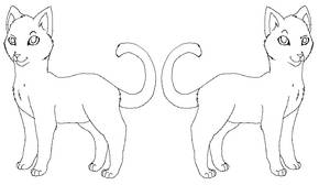 Oasis Cat Lineart -Free-