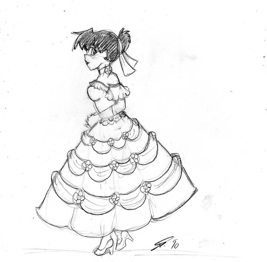 Her White Dress by spawnfan