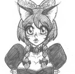 Misty Tries On Gothic Lolita Style Preview by Escafa
