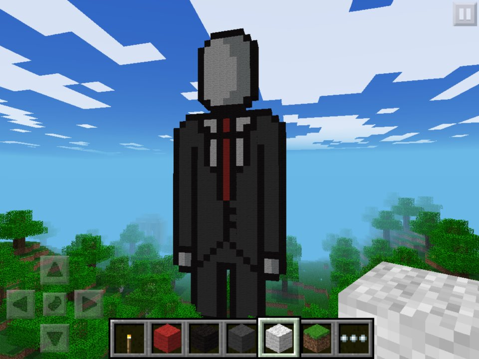 how to make a slenderman statue in minecraft