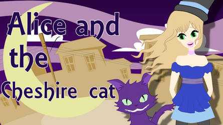 Alice and the Cheshire cat by POTG