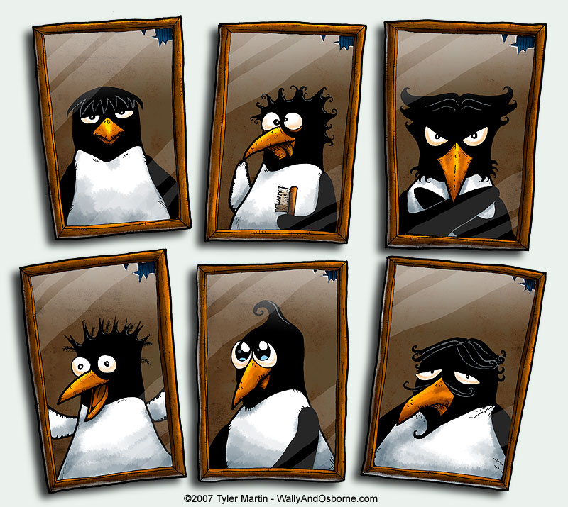 Penguin + Brush + Mirror by TylerMartin