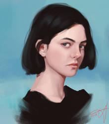girl by asoftart