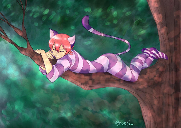 Ryo-san the Cheshire Cat (Daiya x Alice) by Noella84
