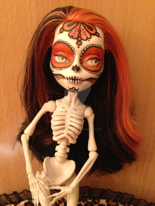 Skelita Calaveras MH repaint 2 by Makeup-love95 on DeviantArt
