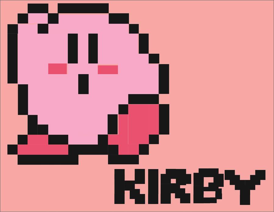 kirby 8 bit grid
